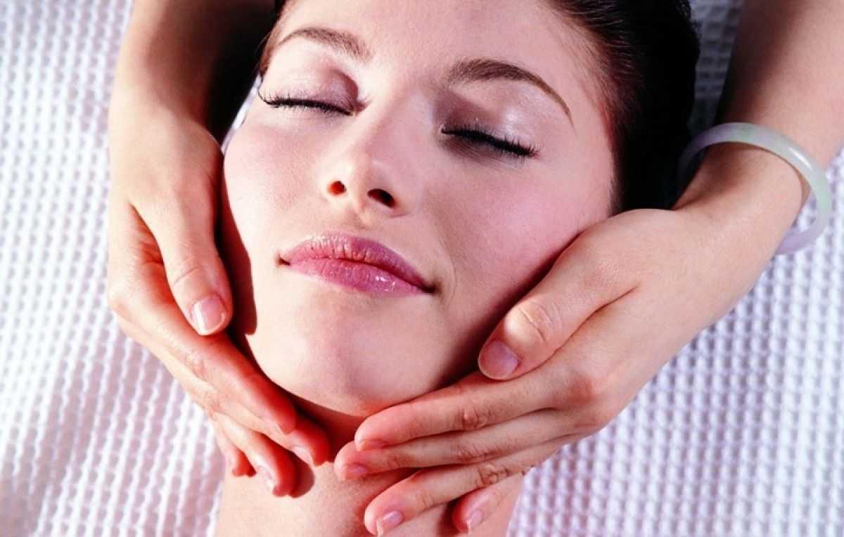 лимфодренажный массаж лица техника